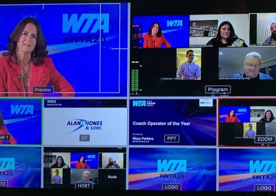 Wales Transport Awards online live event studio control panel