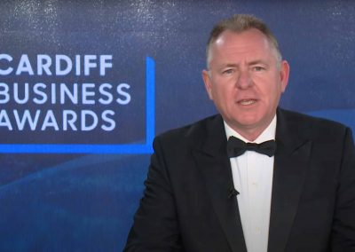 JamieOwen hosting the Cardiff Business Awards at the CLEARTECH online live event studio