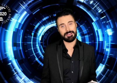 Presenter Rylan Clark Neal hosting the Welsh Contact Centre awards from the CLEARTECH LIve online live event studio
