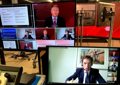 Welsh Government: Manufacturing Summit online live event studio control panel