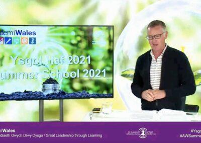 Chris Jones presenting the Academi Wales Summer School 2021